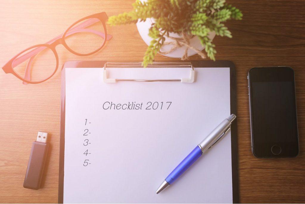 Lista de negocios de fin de año